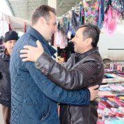 İYİ PARTİ Başkan Adayı Türemiş'e vatandaştan sıcak ilgi