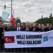 İYİ parti vekilleri Tank Palet fabrikasını na çıkartma yaptı