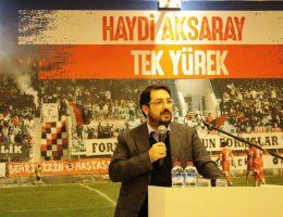 Aksaray Belediye Spor Destek Yemeğine iş adamları destek vermedi