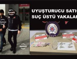 Uyuşturucu satıcısı polise enseledi