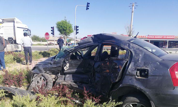 Aksaray'da Feci Kaza 1 ölü 1 yaralı