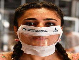 işitme engelli vatandaşlara özel maske üretildi