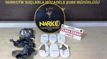 Aksaray Polisi 1 kilo 300 gr uyuşturucu yakaladı