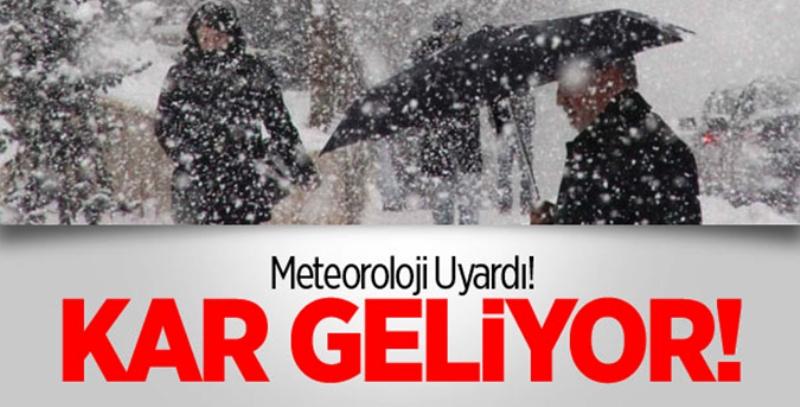 Aksaray için metrolojiden kar yağışı uyarısı
