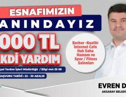Aksaray Belediyesi Destek Paketinin Kapsamını Genişletti