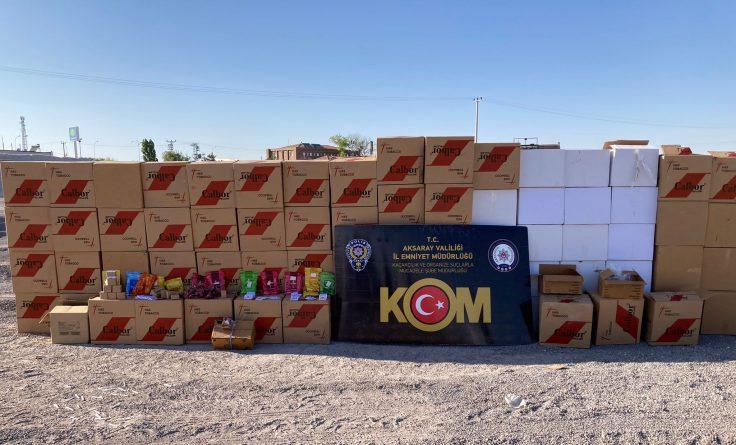Aksaray polisinden Kaçak tütün operasyonu 4 gözaltı