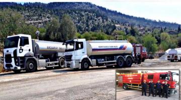 Aksaray Belediyesi yangın bölgesine 1itfaiye 2 arazöz aracı gönderdi