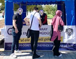 ASÜ öğrencilerine TEM polisinden Terör bilgilendirme standı