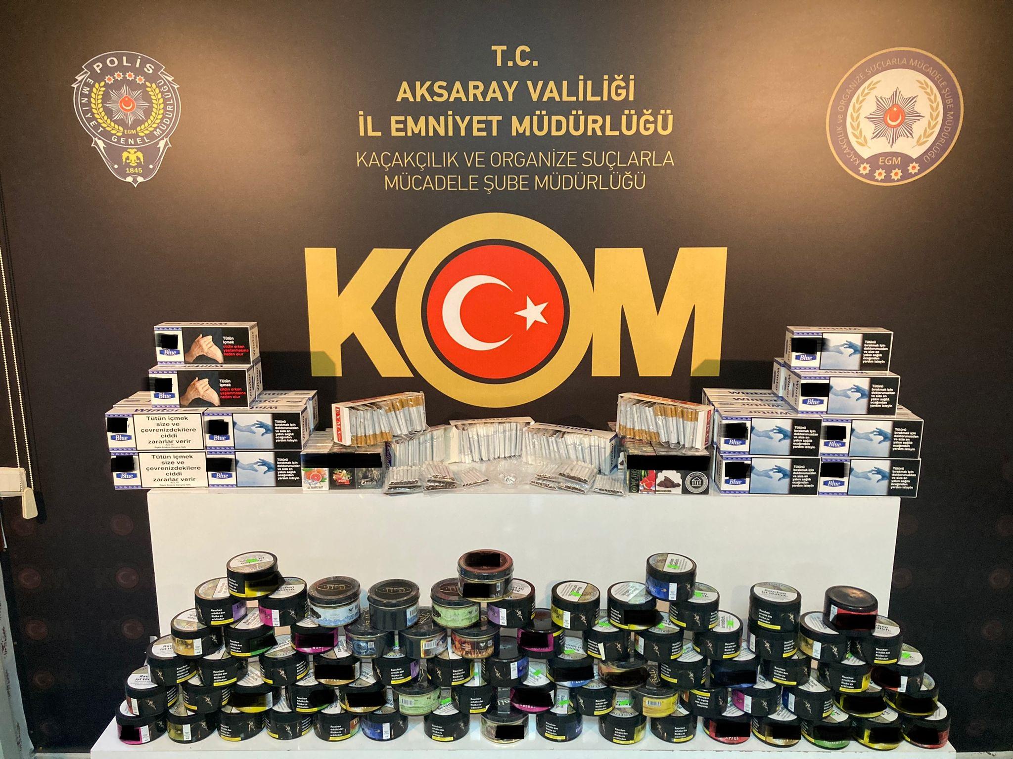 Kaçak tütün satışı yapan 2 kişiye işlem yapıldı