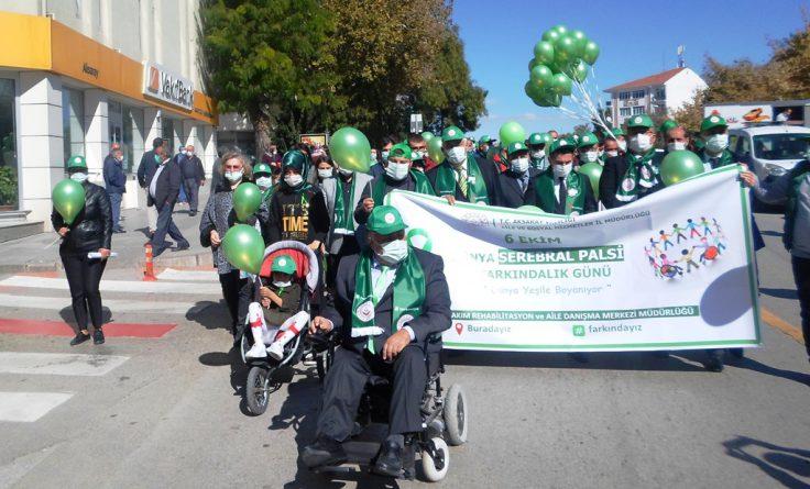 6 Ekim Dünya Serebral Palsi Farkındalık Günü için yürüdüler