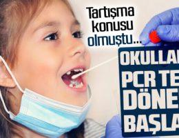 Okullarda PCR testi taraması yapılacak